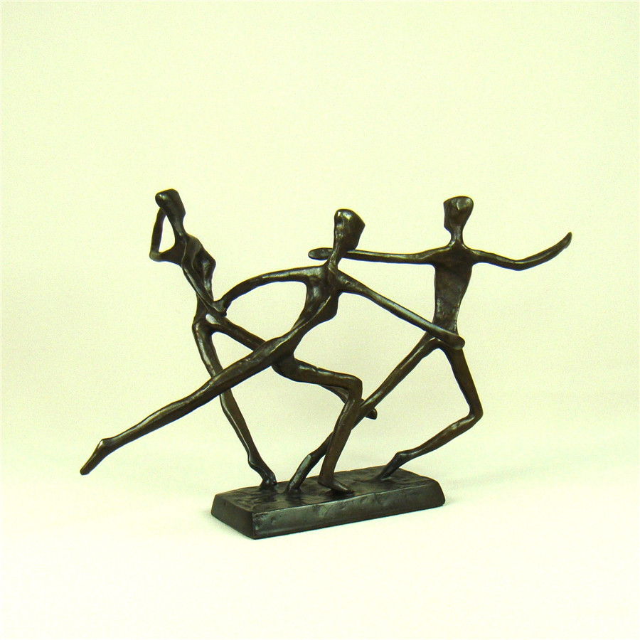 Handmade Copper Figure Skating Statue Abstractive Metal Skater ...