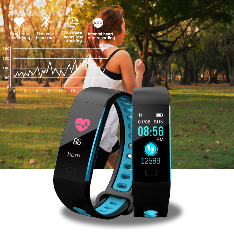 2019LIGE New Activity Fitness Tracker Smart Bracelet Ip67 Waterproof Heart Rate Monitoring Smart Wristband sports smart band in Smart Wristbands from Consumer Electronics