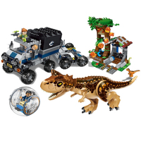 New 39117 Brick Figures Jurassic World 2 Park Carnivorous Carnotaurus Roundabout Escapes Building Blocks toys for children