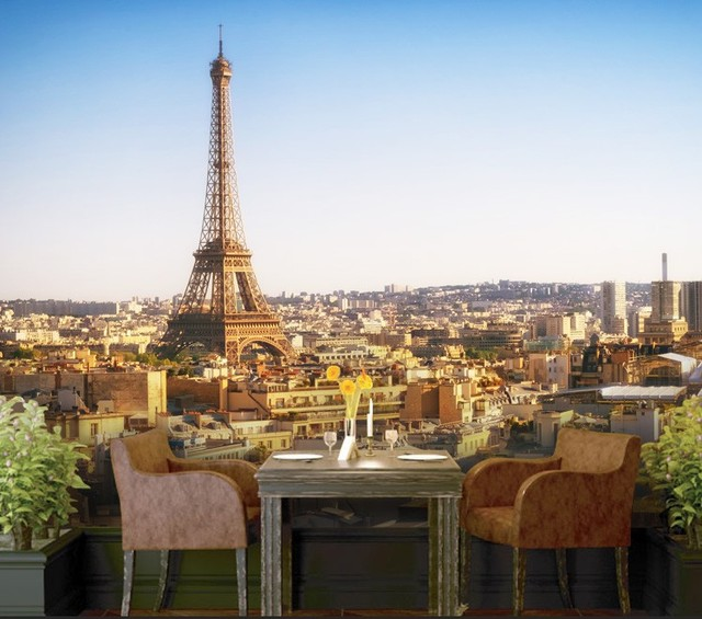 Individuelle Fototapeten Frankreich Paris Wandbild Tapete 3d