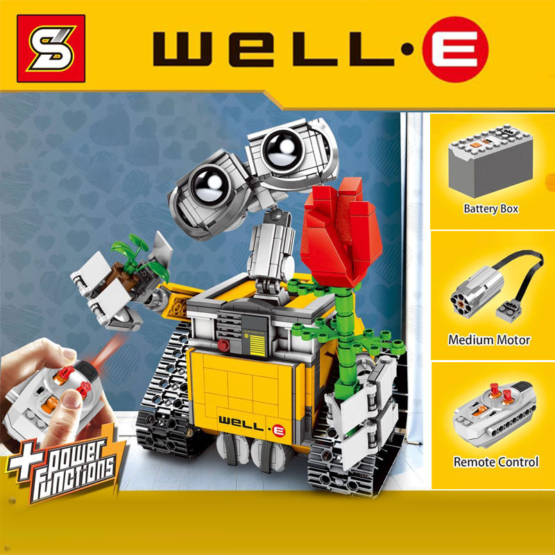 Legoings Creators Idea Sets Fiction Film Robot Wall-e Building Blocks 687pcs Diy Model Toys For Children Movie Creators Legoings Toys & Hobbies Blocks