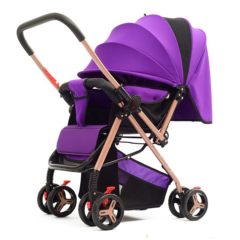 Huaying baby Stroller ultra-light folding Safety Baby Stroller Can Sit Reclining Cart Eight-Wheel Baby Two-Way Stroller