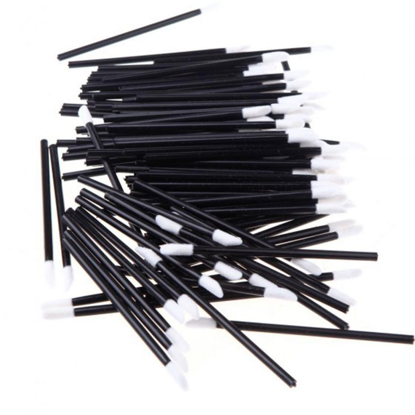 все цены на Good Sale 100PCS Disposable MakeUp Lip Brush Lipstick Gloss Wands Applicator Make Up Tool Wholdsale Agu 3 онлайн