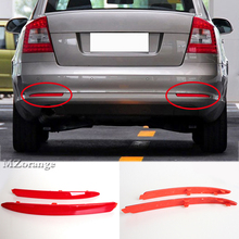 2 Pcs ABS Tail Rear light for Skoda Octavia Red 1ZD 945 106/105 2010 2011 2012 2013 2014 Bumper Reflector warning brake light fashion sweet women 10cm high heels pumps female sexy pointed toe black red stiletto high heels lady pink green shoes ds a0295