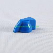все цены на 10pcs Colorful Rotary Volume Blue Control Vintage Plastic Knob 32x14mm for 6.35mm Shaft онлайн