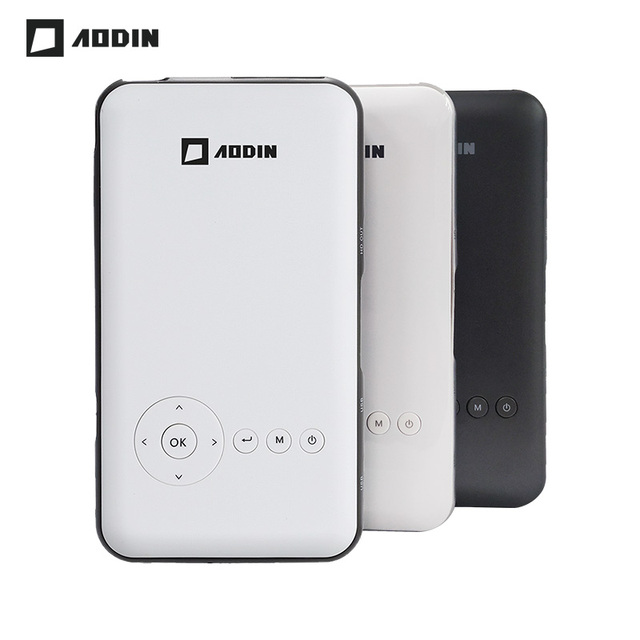 New Price AODIN Android 7.1 OS Pico Pocket HD Portable 32G Micro Built-in WIFI Bluetooth Mini LED DLP Projector with Battery HDMI IN