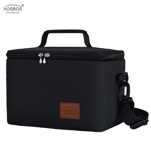 Bolsas de Almoço Térmico para as Crianças dos Homens Bolsa de Armazenamento Aosbos Moda Portátil Comida Piquenique Refrigerador Caixa Grande Capacidade Isolado
