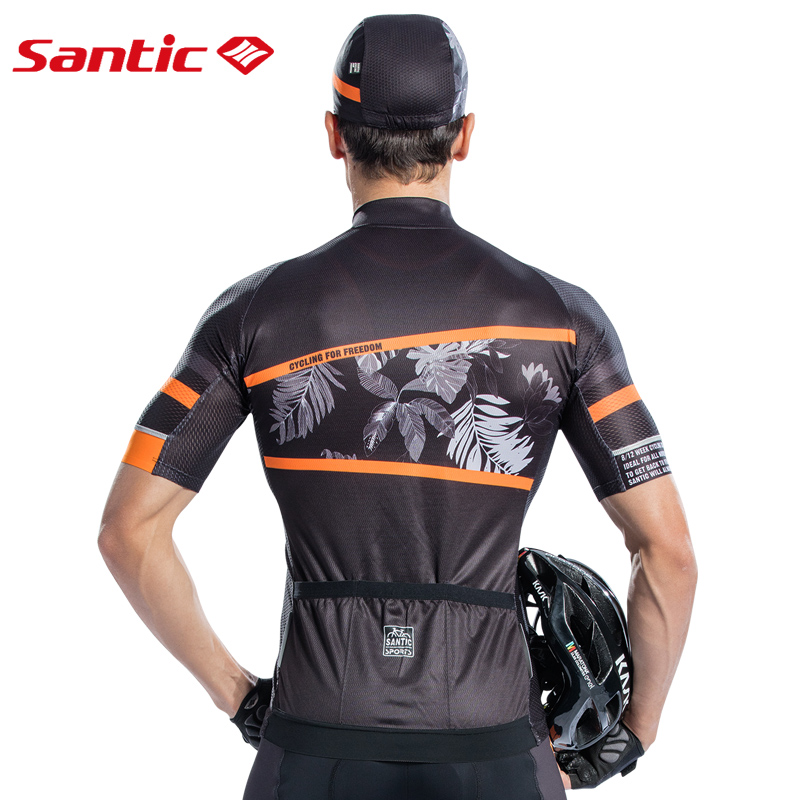 Santic Men Cycling Jersey Short Sleeve Pro Fit Antislip Sleeve Cuff  Road Bike MTB Short Sleeve Jersey Summer Asia size M8C02128-in Cycling Jerseys from Sports & Entertainment    3