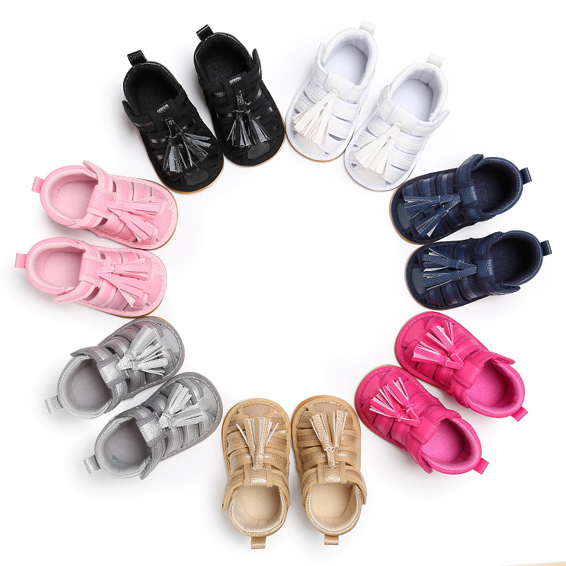 Reasonable 2019 Summer Boys And Girls Baby 0-1 Years Old Feet Rubber Sole Non-slip Baby Tassel Toddler Shoes First Walkers Baby Shoes