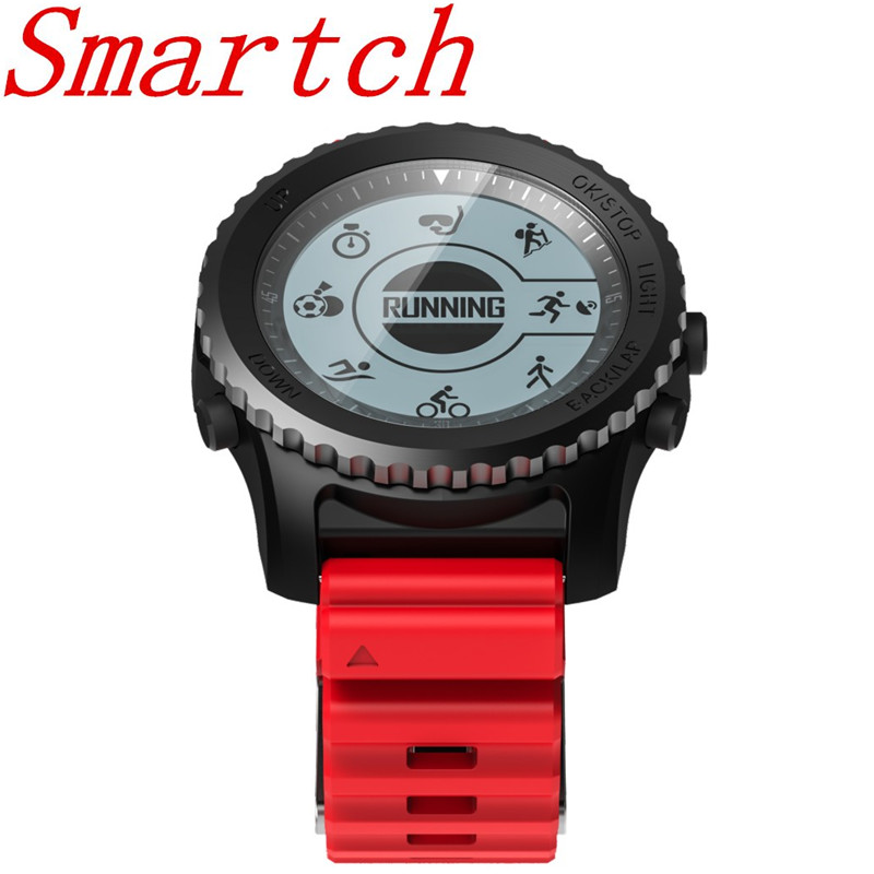 Smartch S968 GPS Sports Smart Watch IP68 Waterproof Sleep / Heart Rate Monitor Sedentary Reminder Barometer Thermometer Altimete smart baby watch q60s детские часы с gps голубые