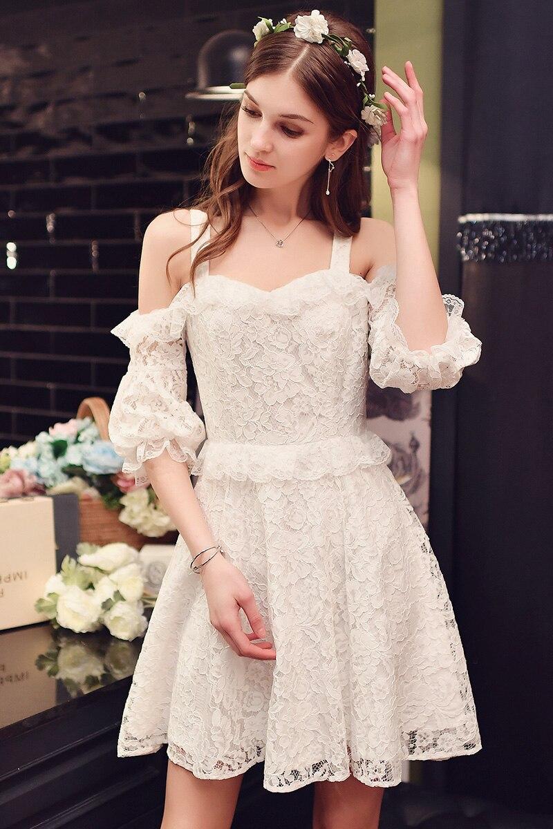 Gewaltig Moderne Kleider 2017 Dekoration Von Kleid Mode Damen Spitze Code Schulter Laterne