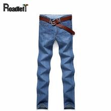 Мужской классический ретро стиль хлопок прямые случайные джинсовые брюки Мужские тонкий тонкий эластичный мешковатые Джинсы Мужские грузовые брюки