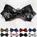 20 estilo verão dos homens de seda gravata do pescoço auto gravata borboleta de ouro prata preto moda casual masculino casamento gravata borboleta rosa lote