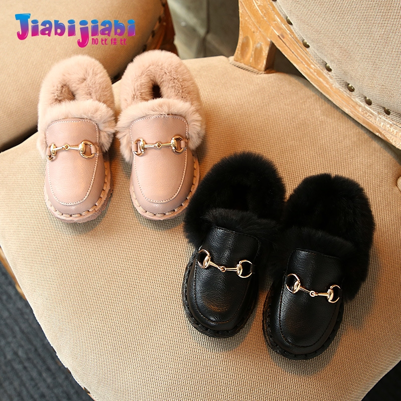 0-6T New Winter Children Babies Loafers Preschool Fashion Leather shoes Baby Girls Casual Flats Toddler kids Cotton shoes