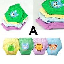 4 шт. детский, для новорожденных, для девочек и мальчиков, 4 слоя водостойкая Накладка на унитаз тренировочные брюки многоразовые