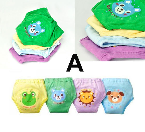 4 Pcs Baby Newborn Girl Boy 4 Layers Waterproof Potty Training Pants Reusable