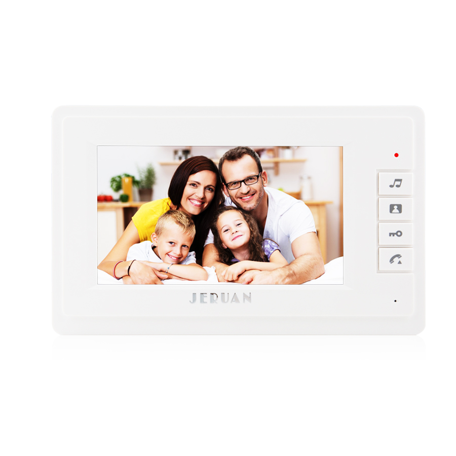 JERUAN 7 inch video intercom door phone system Only Monitor indoor Unit + Power Adapter FREE SHIPPING 724 koonlung k1s dvr host only k1s main system unit