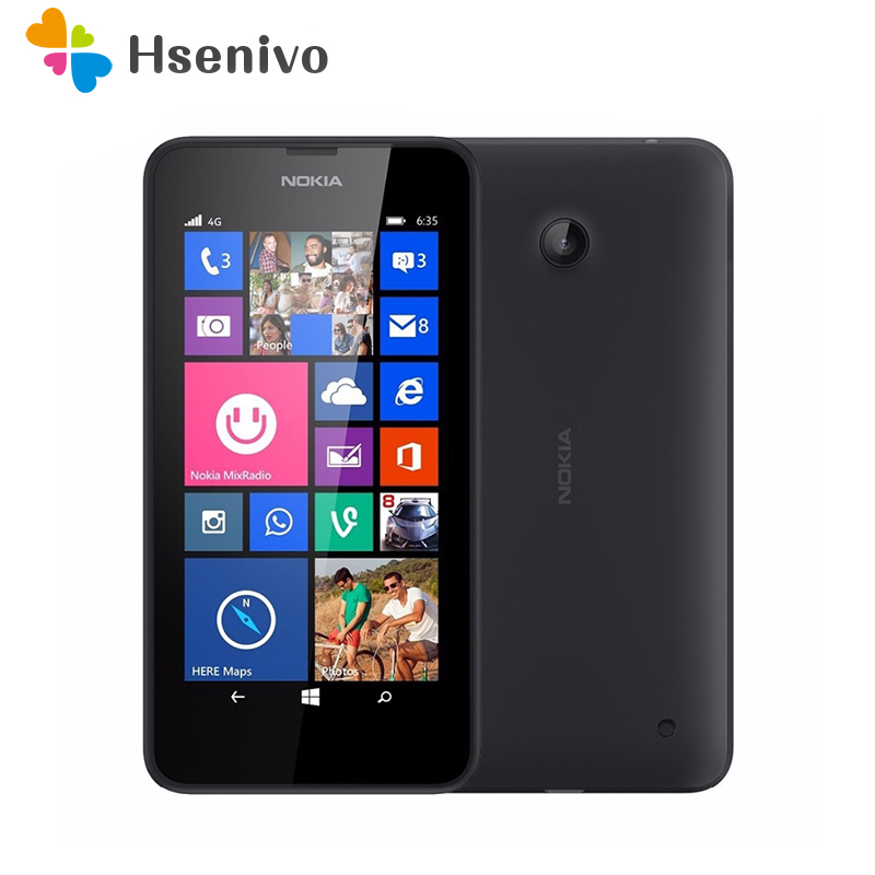 100% Original Nokia Lumia 635 Windows Phone 4.5Quad Core 1.2GHz 8G ROM 5.0MP WIFI GPS Unlocked 4G LTE Smartphone free shipping image