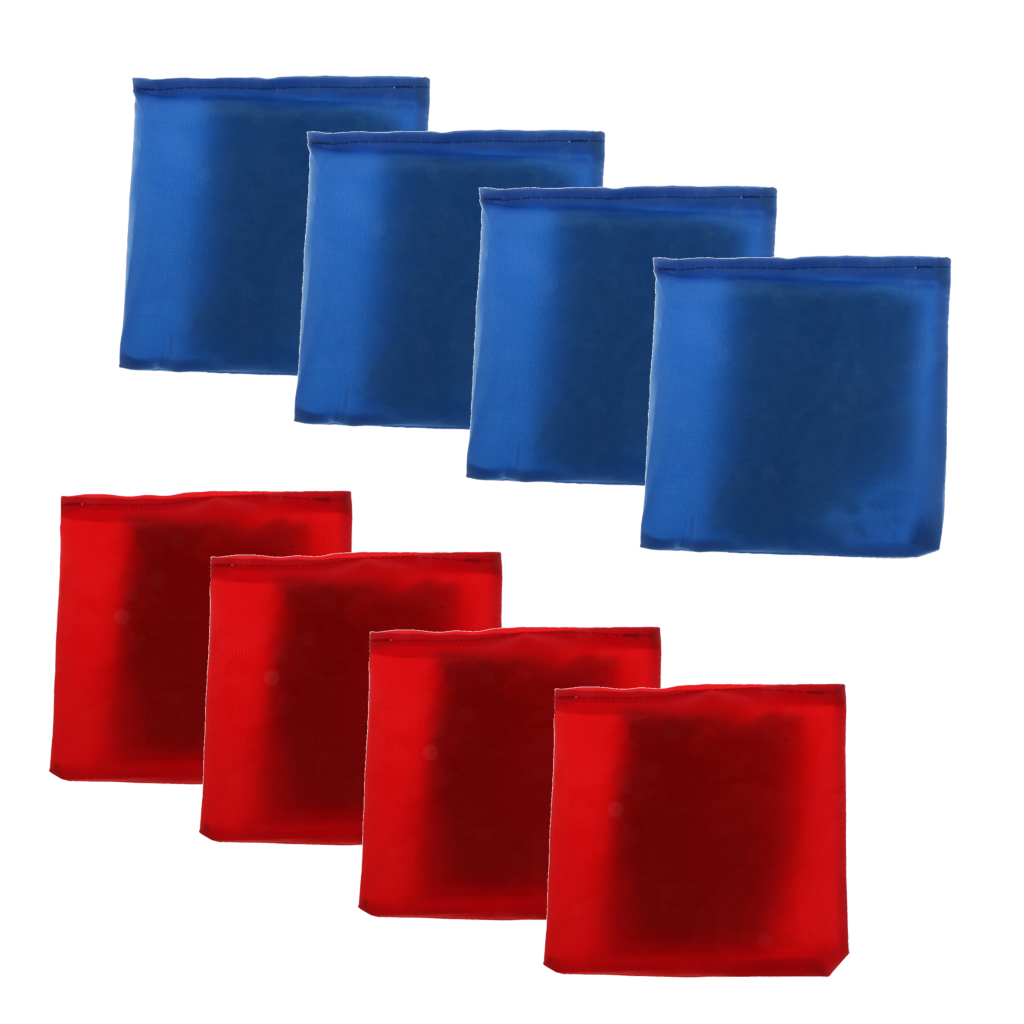 8pcs/set Blue & Red Replacement Cornhole Bag Bean Bag 10x10cm For Family Backyard Outdoor Tossing Corn Hole Game Tools