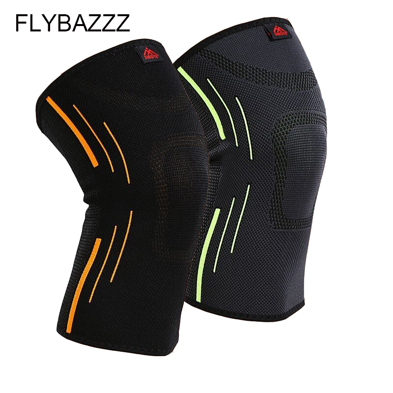 FLYBAZZZ 1 Psc High Elastic Kneepad Breathable Basketball Running Hiking Cycling Fitness Knee Support Outdoors Sports Protection