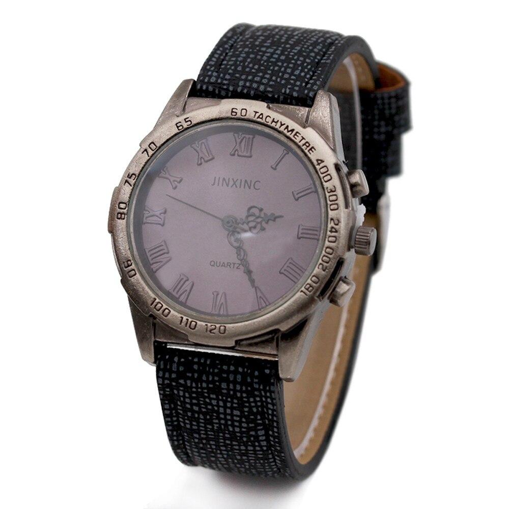 75d91da7ec4f Unisexe Vintage Rétro Bronze Femmes Montres Hommes Quartz Bracelet Montre  Rome Échelle Fissure Bracelet En Cuir Montre-Bracelet Sport Casual