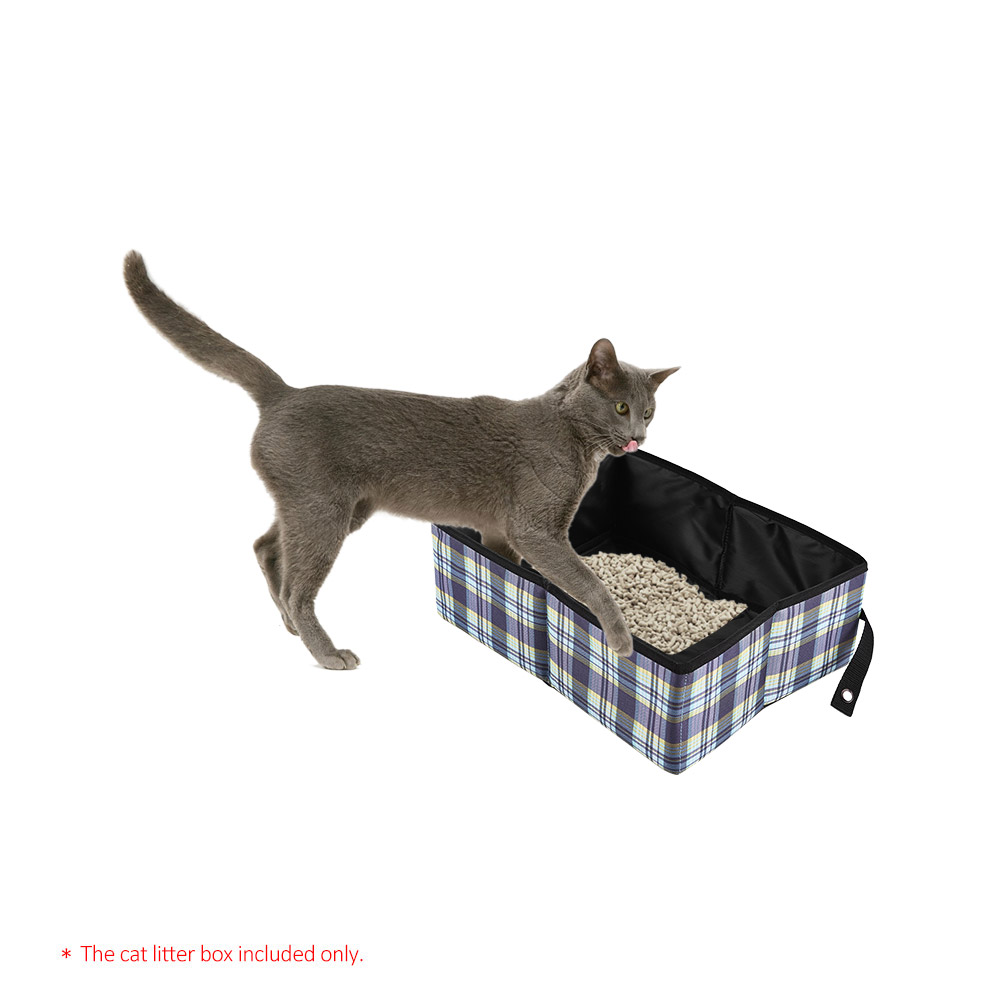 Cat Tray Foldable Toilet Portable Collapsible Dog Cat Litter Box Pan Cat Litter Box Water-resistant Oxford Fabric For Cats Dogs