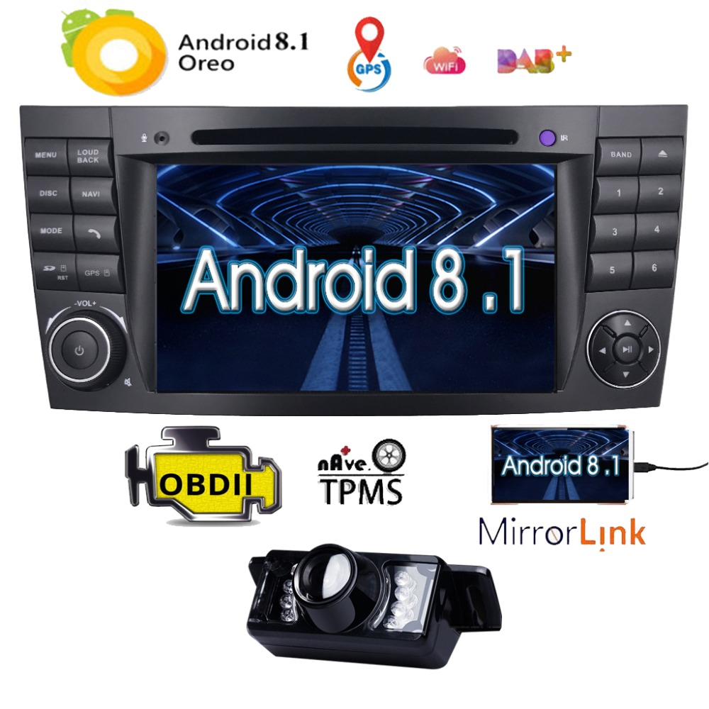 Android8 1 Two Din 7Inch CarDVD Player For Mercedes Benz E Class W211 E200 E220 E300