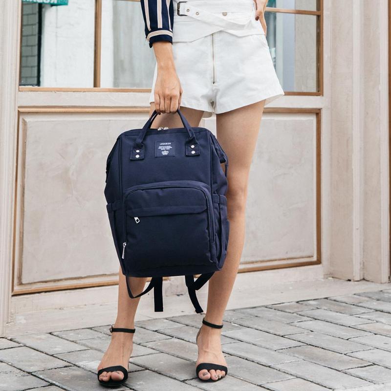 HTB1Y3pbaPfguuRjSspaq6yXVXXaI LEQUEEN Fashion USB Mummy Maternity Diaper Bag Large Nursing Travel Backpack Designer Stroller Baby Bag Baby Care Nappy Backpack