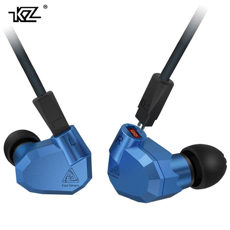 D'origine KZ ZS5 2DD + 2BA Hybride Dans L'oreille Écouteurs HIFI DJ Monito courir Sport Écouteurs Casque Intra-auriculaires KZ ZST avec MICRO Pour Téléphone