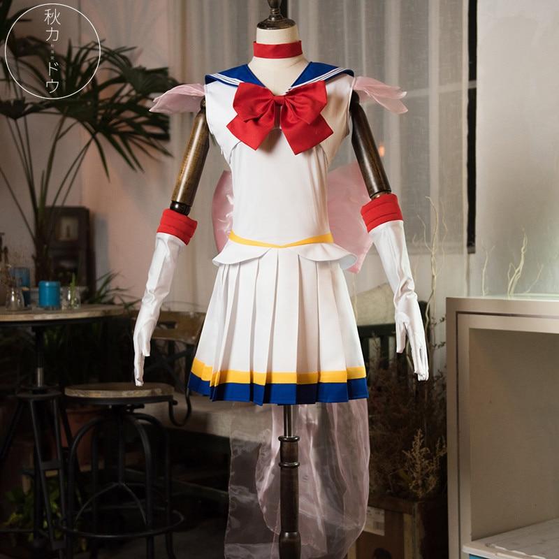 Hot Anime Sailor Moon Tsukino Usagi Lovely Dress Night Party Bowknot Halloween Cosplay costume D