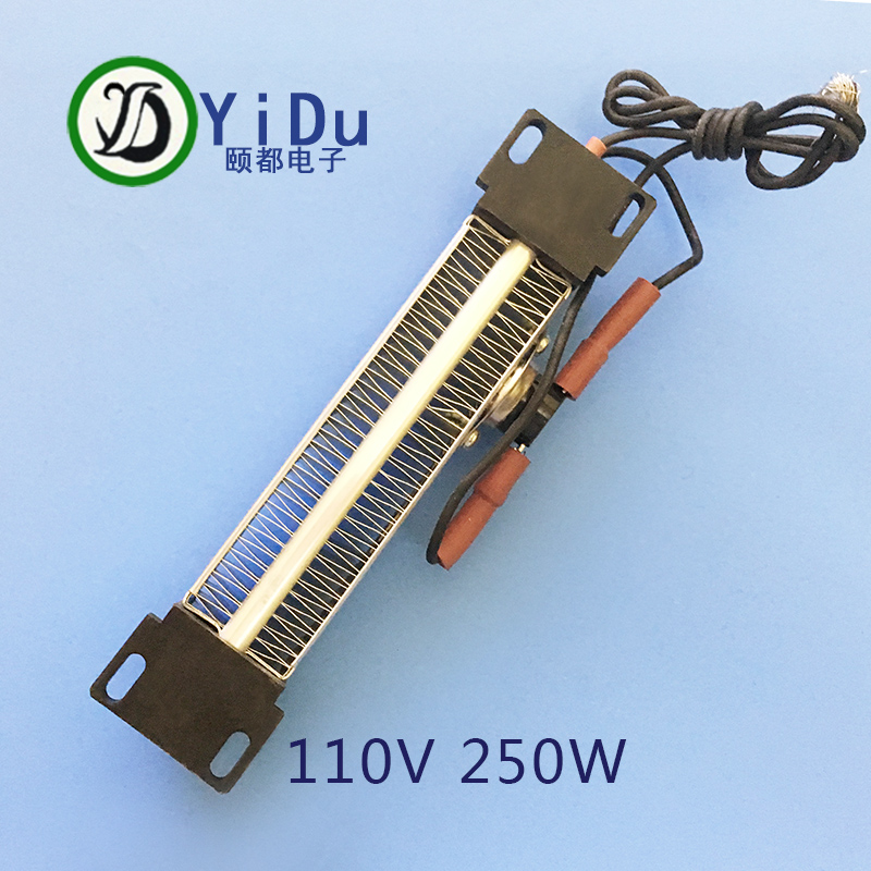 цены на 250W 110V AC DC Insulated PTC ceramic air heater PTC heating element Electric heater 140*32mm