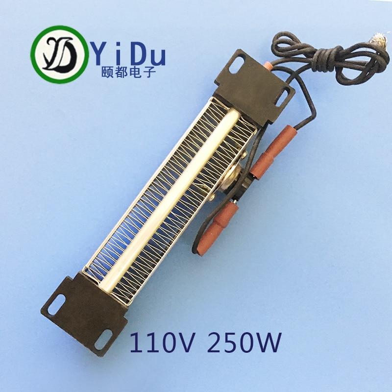 250W 110V AC DC Insulated PTC ceramic air heater PTC heating element Electric heater 140*32mm