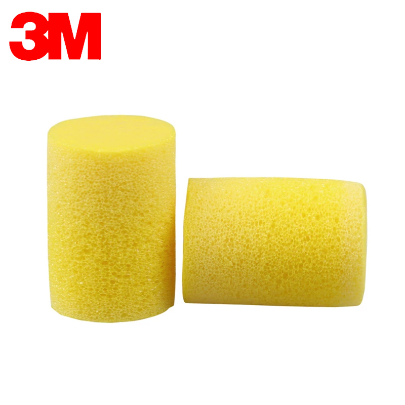 3M Earplugs To Sleeping/Study 312-1201 Classic PVC Earplugs Small For Child Women's Sleep Anti-noise  Yellow Earplugs  VEN001