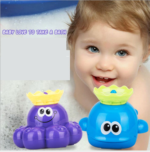 Electric Shower Whale Octopus Splashing Toy Baby Love To Take a Bath No longer crying Toy