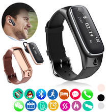 Free shipping!  M6 Sports Bluetooth 2in1 Headphone Smart Watch Bracelet For IOS & Android Phones