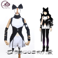 Anime RWBY Blake Belladonna Cosplay Costume Black White Custom Made Suits