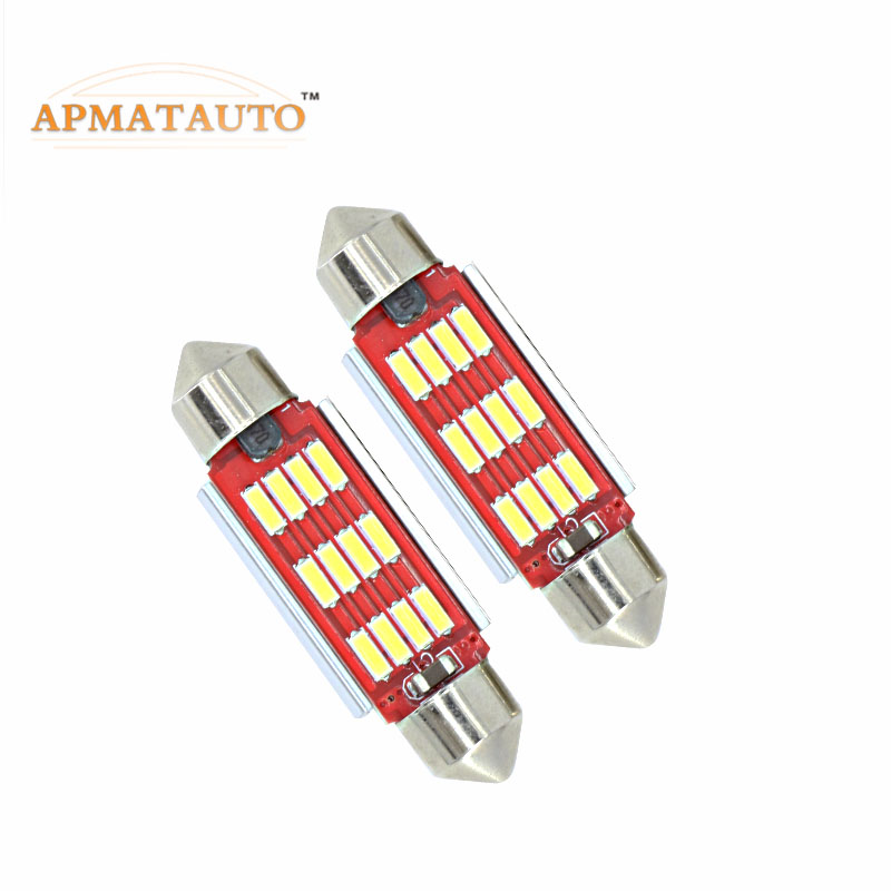 2 X  Newest   C5W Licese Number Plate Light Bulb Canbus 36mm LED  For Volkswagen VW Golf 4 5 Passat 3B 3BG 3C CC Polo 9N T5 Eos