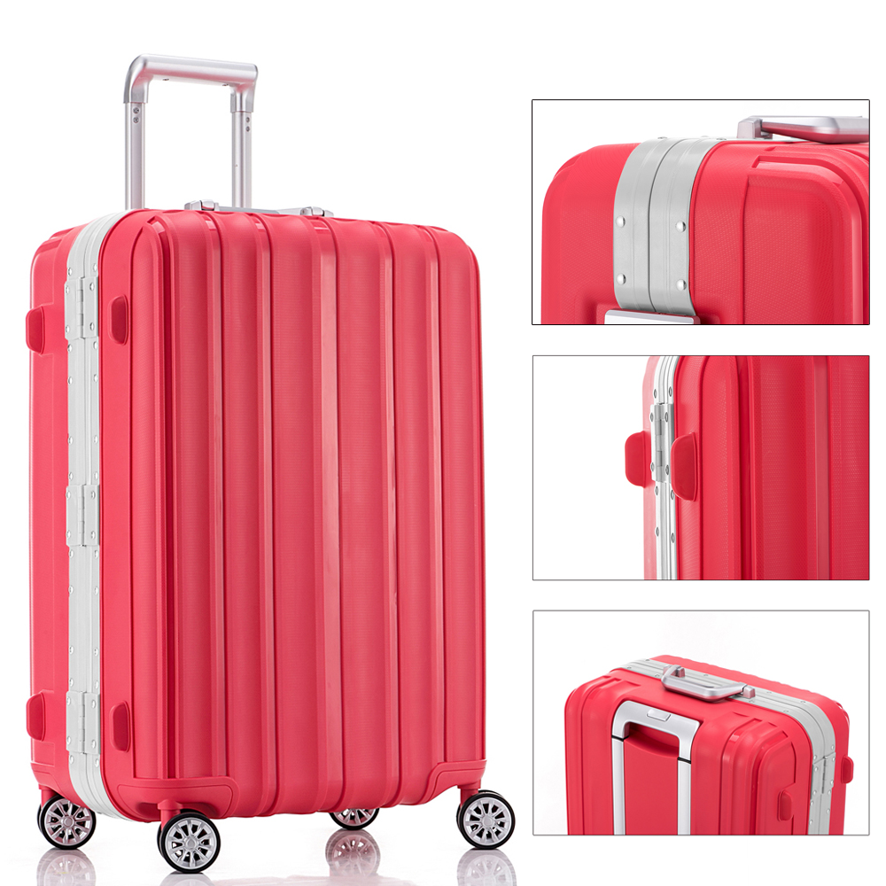 0815caf9decf US $119.99 |Fochier PP Durable Trolley Lightweight Hardshell Carry on  Luggage Suitcase With Spinner Wheel & TSA Lock ,24