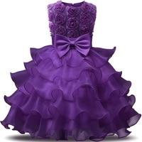 Vestido del Bebé Ropa de Los Cabritos Vestidos de Bautizo para Las Niñas Princesa Eventos Del Banquete de Boda Del Vestido del tutú Muchachas del Desgaste de cumpleaños 1 2 años
