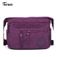 TEGAOTE Fashion Multi Zipper Pocket Women Small Mini Shoulder Messenger Crossbody Bag Ladies Satchel Handbag Cellphone
