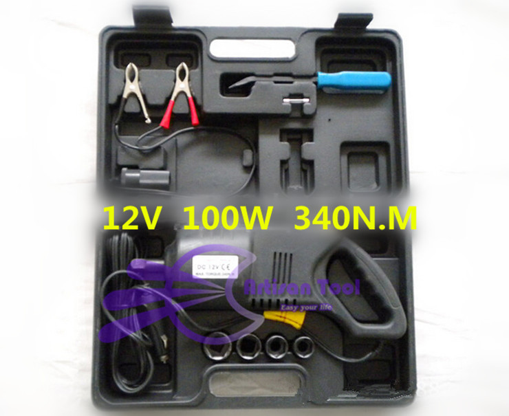 DC 12V 100W Car Electric Impact Wrench sedan tyre screws jack wrench car tyre impact wrench