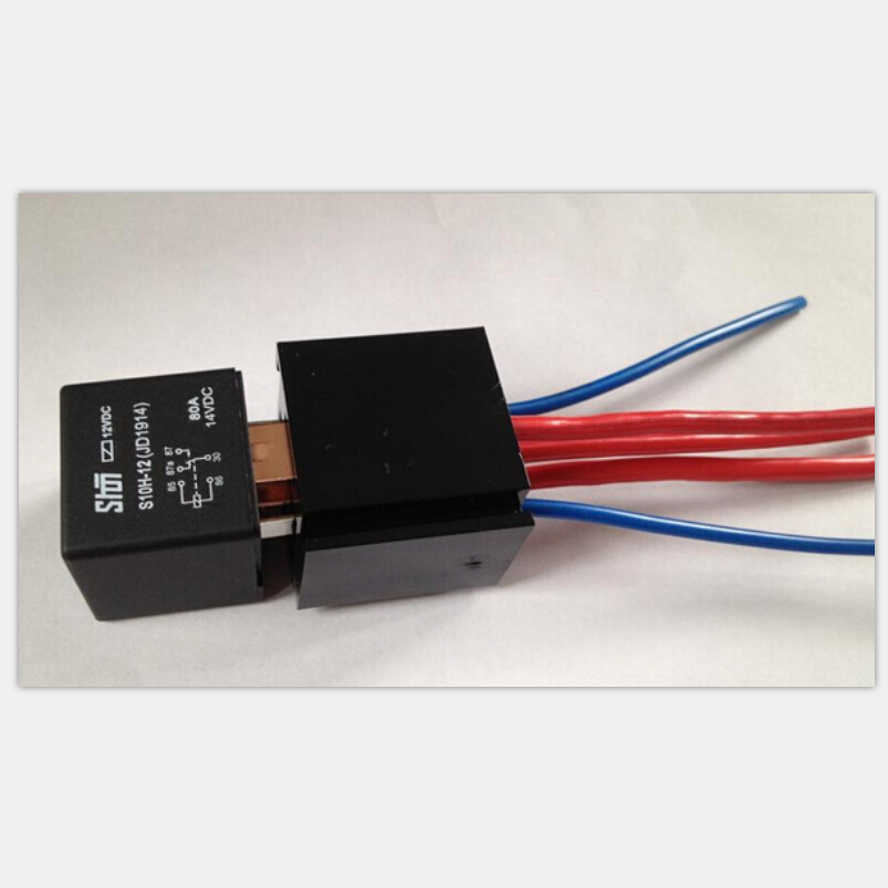 High Quality Automobile relay + Relay Sockets with 4 square wire 5 pin JD1914 DC 24V 80A Automotive Lighting Controller