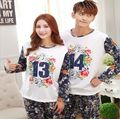 Big Promotion!!Fashion Autumn/Winter Couple Pajamas Indoor Clothing Home Suit Men/Women Printed Long sleeve Trousers Sleepwear