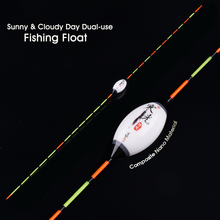 Sunny & Cloudy Day Dual-use Fishing Float Composite Nano Flotteur Peche Crucian Preferred Fishing Bobbers Accessories(YQ-01)