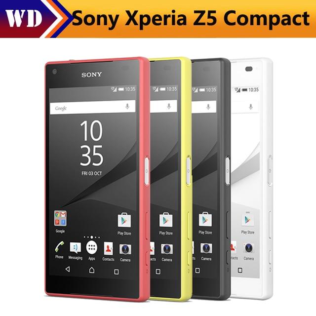 buy sony xperia z5 compact e5823 original unlocked z5 mini gsm 4g android octa. Black Bedroom Furniture Sets. Home Design Ideas