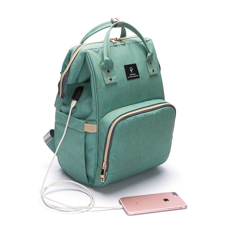 2018 Nappy Bag Usb Charger Lager Capacity Mummy Multifunction Backpack Nappy Outdoor Bag Travel Designer Nursing For Baby Care
