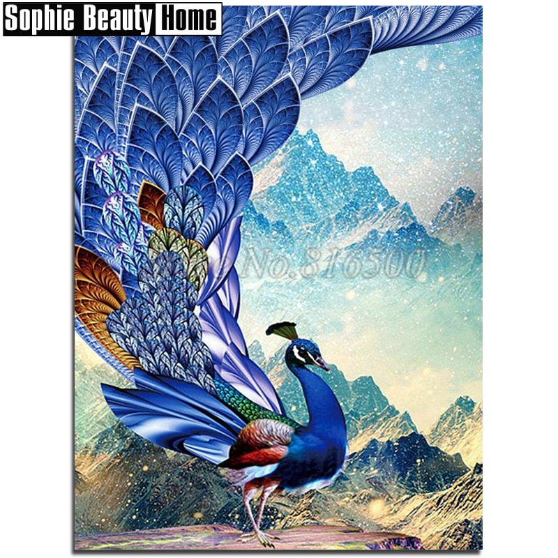 5D DIY Diamond Painting Mountain Full Drill Rhinestone Cross Stitch Kits Mosaic
