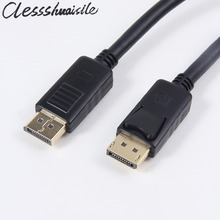Black 1.2V Displayport DP Male to DP Displayport Male Video Audio Cable 1.8m 6ft 180cm For HDTV Projector Display