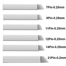 Tattoo Needles Microblading Needle Laminas Para Tebori 7 9 11 12 14 21 Flex Stainless Steel цена