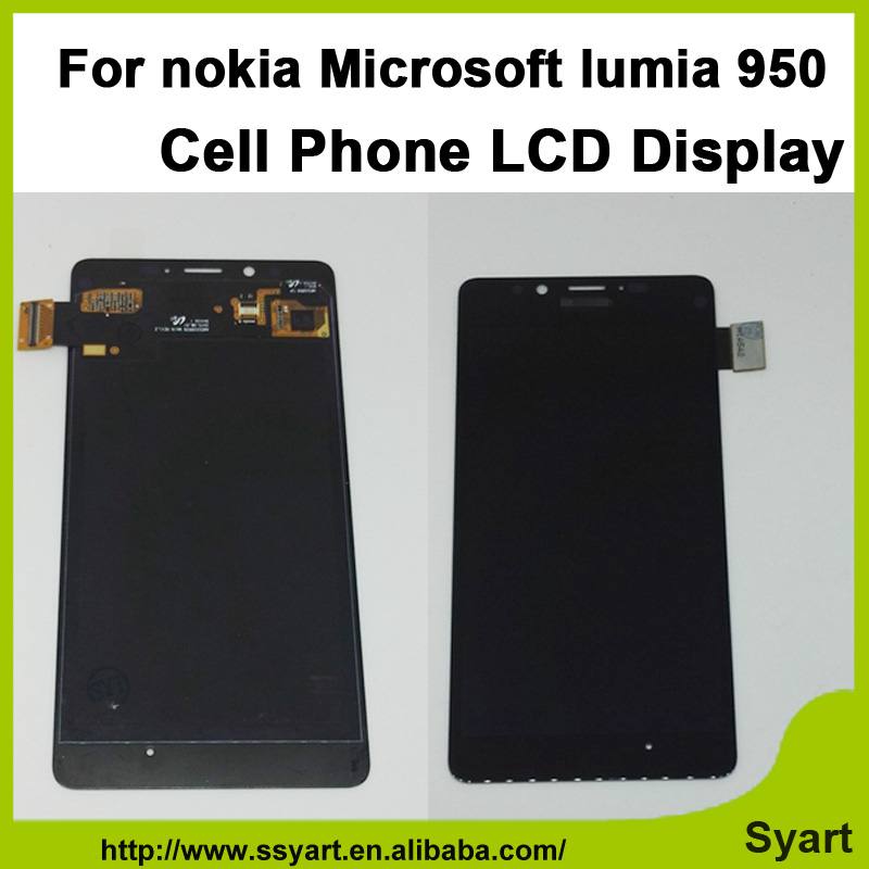 ФОТО 1PCS Black For Microsoft Nokia Lumia 950 LCD Display Touch Screen Digitizer Sensor Assembly Replacement Parts lcd without frame